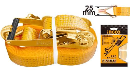 Cinta Catraca Sujecion Ingco 1.5 Ton 25mm 6m Hrsp262 Pa-pa
