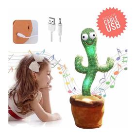 Cactus Bailarin Peluche Felpa Juguete Para Niños Recargable