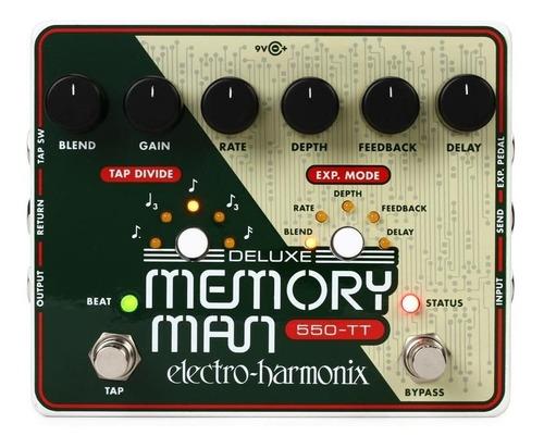 Pedal Delay Electro Harmonix Deluxe Memory Man Tap Tempo 550