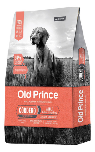 Alimento Old Prince Proteínas Noveles Para Perro Adulto De Raza  Mediana/grande Sabor  Cordero En  Bolsa De 15kg