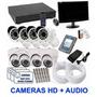 Kit Cftv Dvr Full Hd 8 Cameras Ira Ahd 2.0 + Hd + Monitor Original