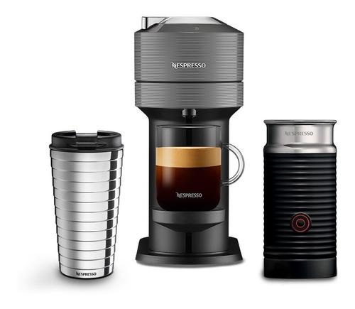 Cafetera Nespresso Vertuo Next Con Espumador Leche Dark Grey