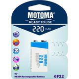 Bateria Recargable 9v 220mah Reales Motoma Ni-mh San Martin