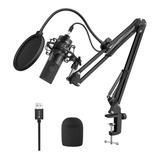 Micrófono Fifine K780 Condensador  Cardioide Negro