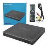 Dvd Player Multilaser 3 Em 1 Bivolt Entrada Usb E Rca C/ Nfe
