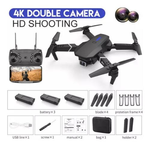 Drone E-525 Dual Cámara 4k Wifi Fpv 1 Batería + Maletín