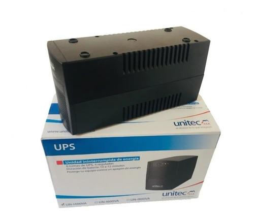 Ups Unitec 650va 8 Tomas Regulador Supresor De Picos Protecc
