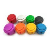 10 Botónes Arcade Tipo Sanwa - Ø30 - Color A Eleccion