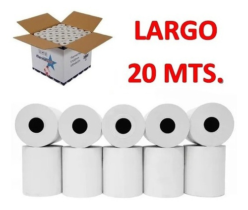 100 Rollos Papel Térmico 58mm ¡¡¡largo 20 Mts!!!