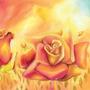 Tela Pintura Impressa 100 X 100cm - Floral- Decoração Lindas Original