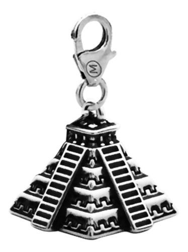 Dije Monona Piramide Maciza Realista De Plata 925 Liniers