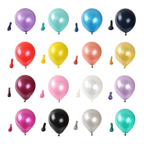 Bolsa De 25 Globos Perlados 12 Fiesta, Decoración, Cumple