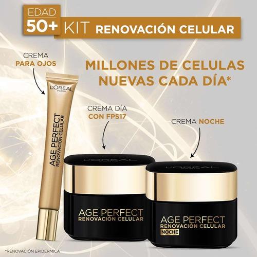 Kit Renovación Celular: Crema De Ojos, Noche Y Día L'oréal