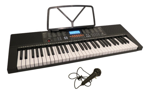 Teclado Órgano 61 Teclas 5 Octavas Micrófono + Fuente