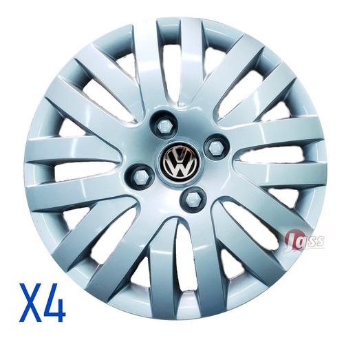 4 Tazas Rodado 13 Pulgadas Gol Corsa Clio Palio Vw Fiat 206