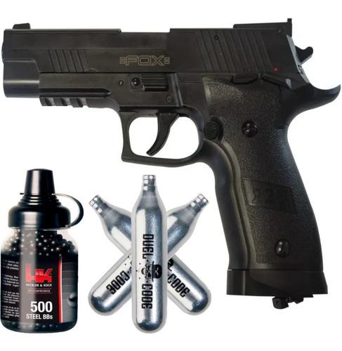 Pistola Co2 Fox P226 Aire Comprimido Semi Automatica + Kit