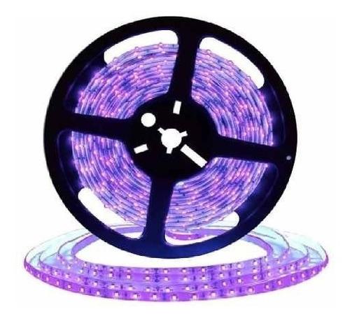 Tira Led Luz Negra Ultravioleta 5050 Rollo 5m Interior 12v