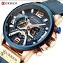 Relógio Masculino Curren Cronografo Pronta Entrega  S.130 Original