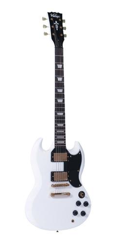 Guitarra Eléctrica Vintage Vs6 Hardware Dorado