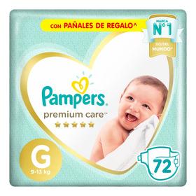 Pañales Pampers Premium Care  G 72u