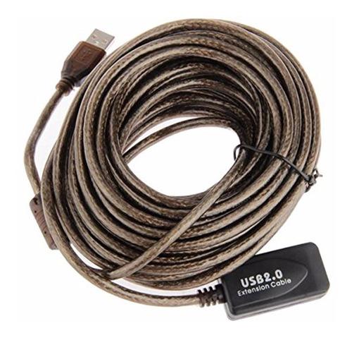 Cable Extension Usb Activo 5 Metros Blindado Sin Perdida