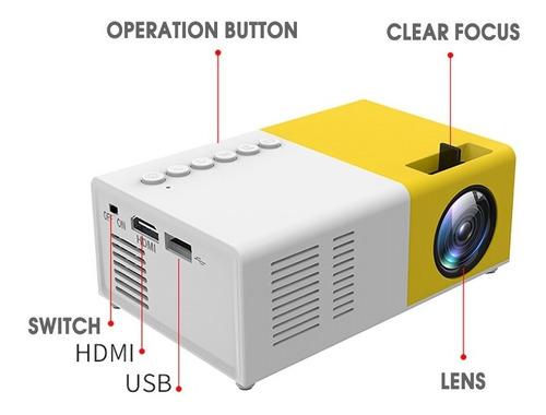 Mini Proyector Portátil Soporte Hdmi Av Usb Hd Video