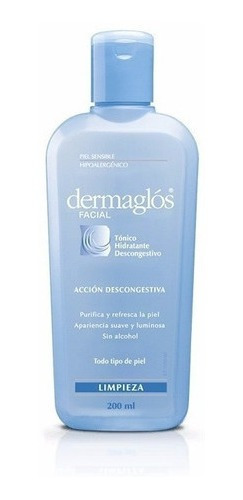 Dermaglós Facial Tónico Hidratante Descongestivo Purificante
