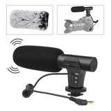 Micrófonos Estéreo De Cámara De Video 3.5mm Para Entrevistas