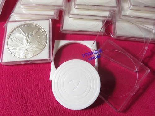 20 Capsulas Cuadradas Para Monedas 5 Modelos A Escoger