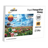 Papel Fotográfico Premium Glossy Cursor 4r 230 Gr 100 Hojas