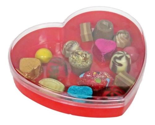 Caja Bombonera Corazón (e/g) - Ideal Souvenir Golosinero