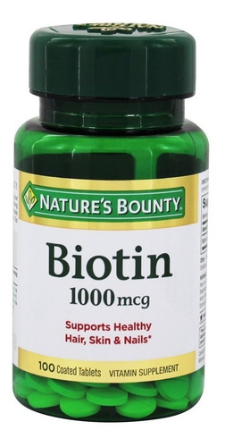 Nature's Bounty Biotine 1000 Mcg X 100 Tabs Apta Diabeticos