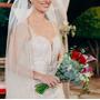 Vestidos De Noiva Semi Sereia Renda Bordada Off White + Véu Original