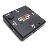 Switch Hdmi 3x1 V1.4 Full Hd 1080p 3 Entradas 1 Salida