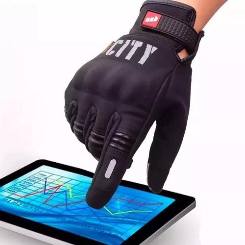 Guante City Neopren Impermeable Proteccion Moto Tactil