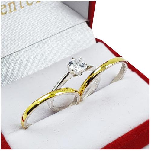 Alianzas Plata Y Oro El Par Anillo Casamiento Joyas Center