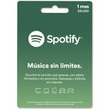 Tarjeta Regalo Spotify 1 Mes Región Colombia