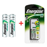Cargador Energizer Mini Carga Aa Aaa + 2 Aa 1300omah