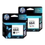 Cartucho Original Hp 664 Negro + Color 2135 2675 3775