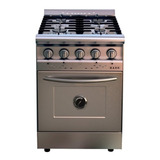 Cocina Industrial Saho Jitaku 550 A Gas 4 Hornallas Plateada 220v Puerta Ciega