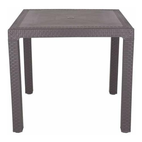 Mesa De Plastico Tipo Ratan/silla Posa Brazos/sin Posabrazos