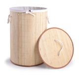 Cesto Organizador Plegable De Bambú Con Tapa Begônia