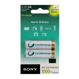 Pila Recargable Aa Sony Cycle 2100 X 2 Original En Blister