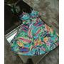 Vestido Estampado Com Bojo , Crepe Elastano Usado Uma Vez. Original