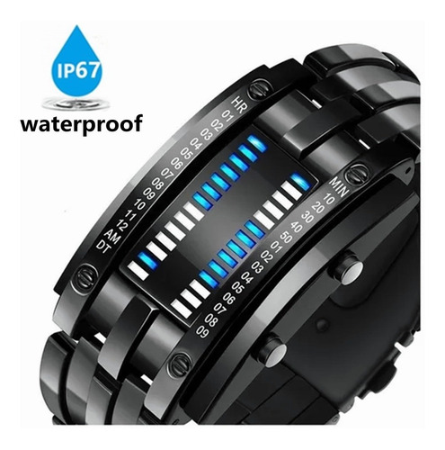 Reloj Electrónico Con Luz Led Impermeable Para Hombres.