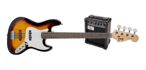 Pack Bajo Jazz Bass Y Amplificador Creep Completo Sb