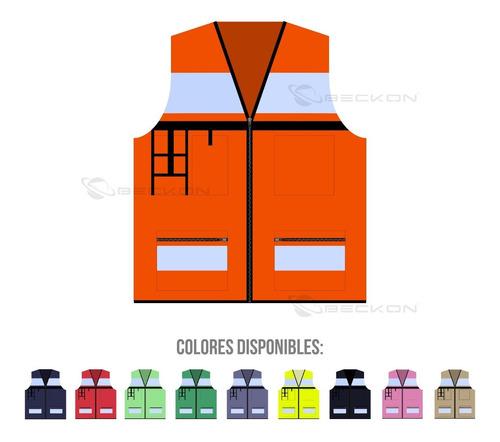 Chaleco De Seguridad Industrial Brigadista Vial +reflejante