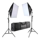 Kit De Iluminacion Softbox Fotografia Video Profesional