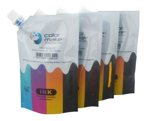 Tinta Sublimar Sublimación Colormake 125 Ml Cmyk Envío Full
