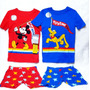 Pijama Kids Mickey E Pluto Disney C/ 4 Peças Original